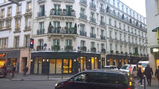 view of the nice corner rooms we styed in picture of hotel 34b astotel paris tripadvisor. Black Bedroom Furniture Sets. Home Design Ideas