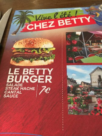 Neussargues-Moissac, France: sign out front - I didn't know how to ask for a hamburger