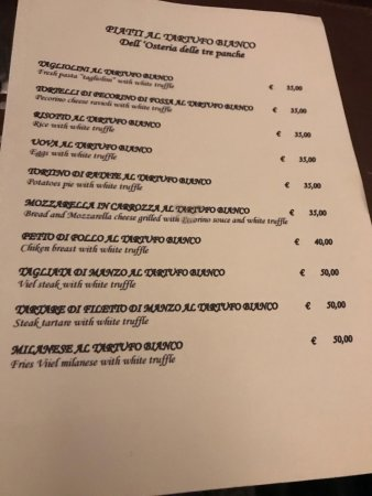 Tre Panche Florence Menu.Photo1 Jpg Picture Of Osteria Delle Tre Panche Florence Tripadvisor