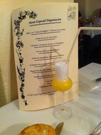 Restaurante Jacky: Taster menu with sorbet