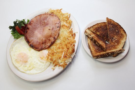 Junction City, OR : Ham, Eggs, Hashbrowns & Toast @ the Guaranty Café