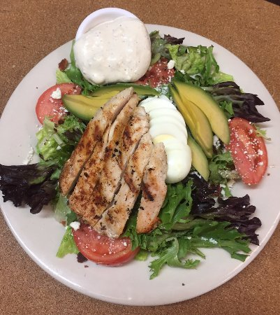 Driggs, Idaho: cobb salad with grilled chicken breast