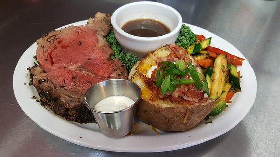 Junction City, OR : Prime Rib Dinner @ the Guaranty Café