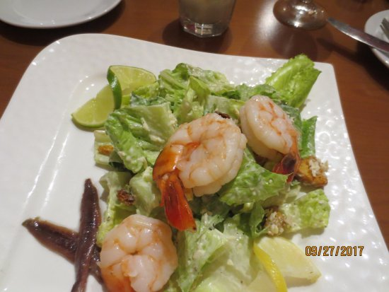 SWITCHBACK GRILLE & TRADING COMPANY : Caesar Salad w/anchovies . Shrimp added.