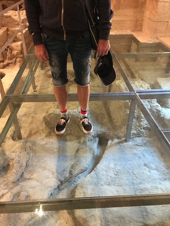 Alcala la Real, สเปน: Glass floor at Alcala