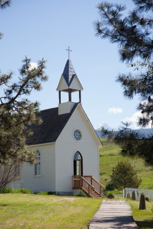 Vernon, Canada: The newly restored St. Anne's Church - first built in 1889