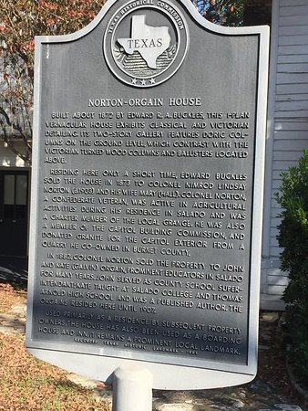 Salado, TX: History of the house- it's also on the National Register