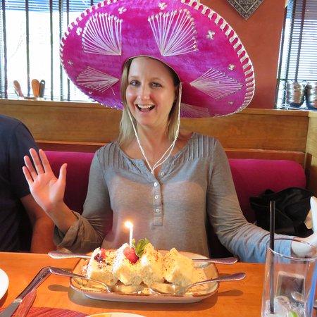 Rosa Mexicano - Atlanta: Happy Birthday with leche cake