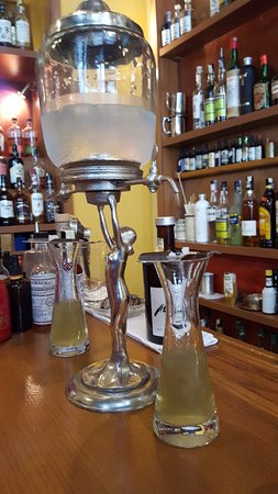 Prague Food Tour: Bonvivant's Absinthe Cocktail Preparation