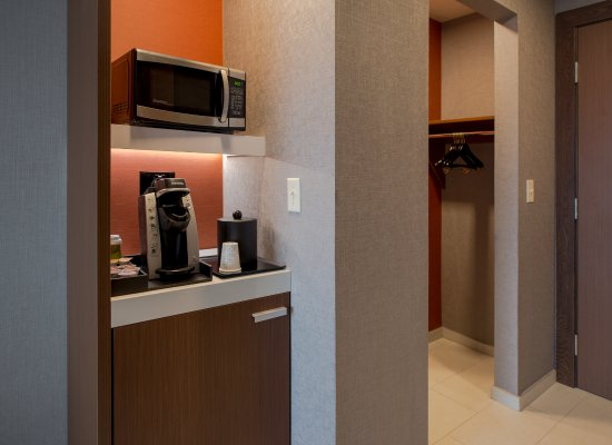 Wausau, WI: Our guest rooms feature a microwave, Keurig beverage maker, mini-fridge, iron and ironing board,