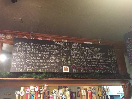 Bigfork, MT : Beer List