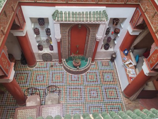 Riad Souad : View of the courtyard