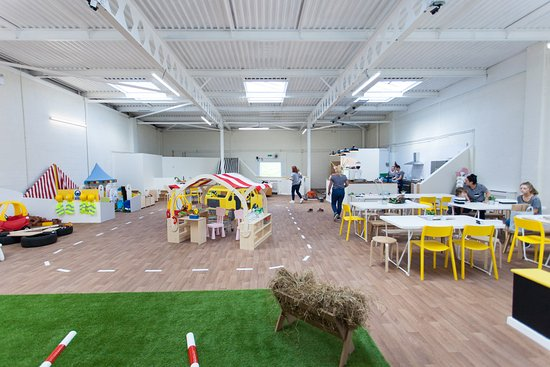 Peterlee, UK: Inside Little Land Play beside the seating area