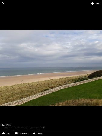 Seahouses, UK: Beach from Bamburgh Castle