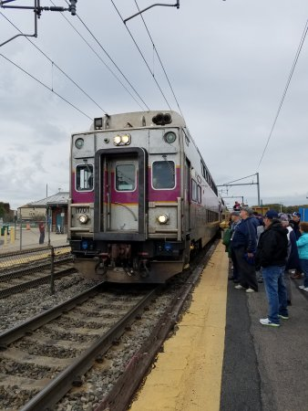 Gillette stadium train