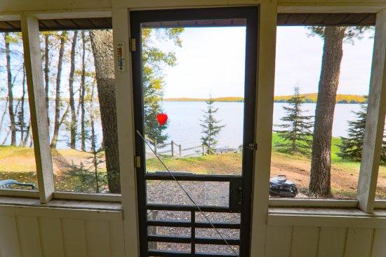 Presque Isle, WI: Sunfish Cabin Screen Porch
