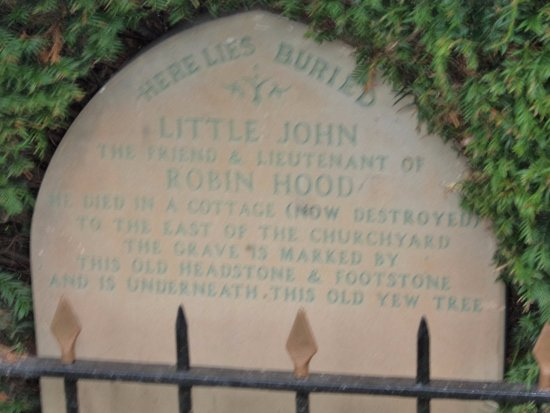 Hope Valley, UK: Headstone of Little John