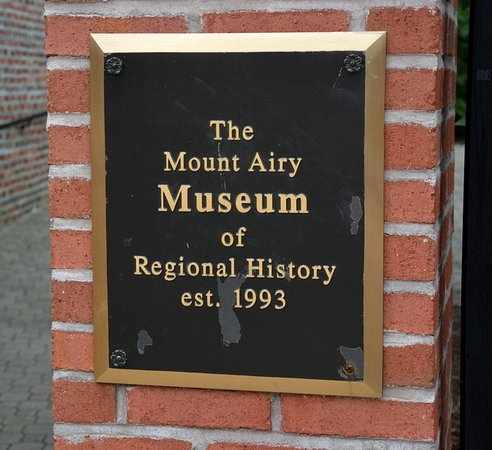 Mount Airy, NC: Plaque at Entrance
