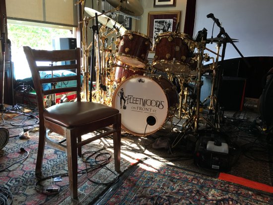 Mick S Drum Set On Stage At Fleetwood S On First Picture Of