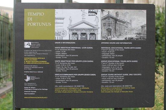 Informazioni Tempio di Portuno