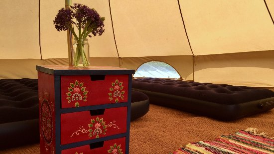 Bryher, UK: One of our pre-erected, fully-equipped Bell Tents