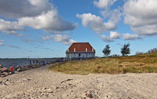 Cafe Sorgenfrei, Südstrand, Fehmarn, Germany, in the fall