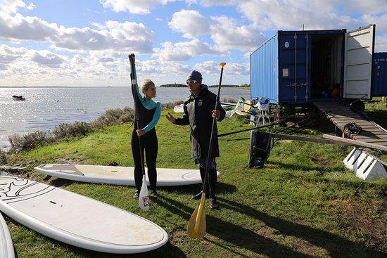 SUP instruction, Windgeister, Orth, Fehmarn, Germany