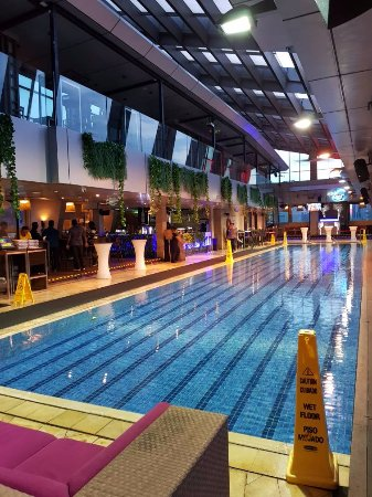 Inside Sky Bar level 33 with swimming pool inside - Picture of ...