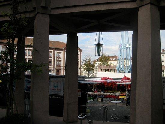 Pirmasens, Γερμανία: Blick auf den Wochenmarkt