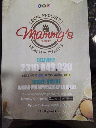 Mammy's: Speisekarte