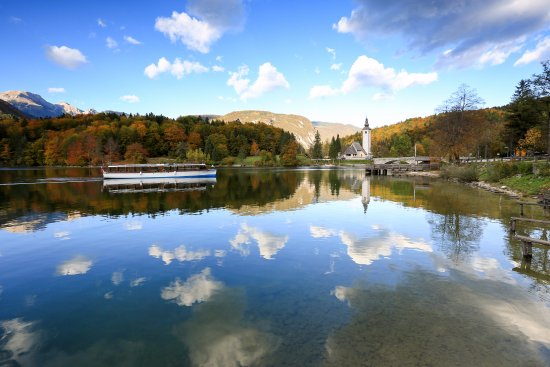 Autumn colours at Lake Bohinj.