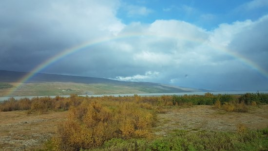 Egilsstadir, İzlanda: Caught a photo of a rainbow from the southern bank