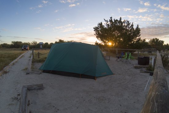 Fort Clinch State Park: Sunrise at Atlantic Beach campground, site D. Very Nice !
