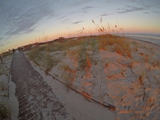 Fort Clinch State Park: Boardwalk from Atlantic Beach campground to beach