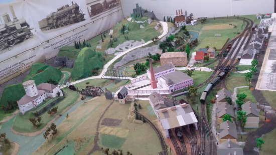 Museum of Transport: Surrounding railways of Žilina town (model)