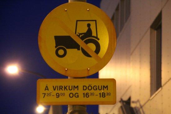 Hafnarfjordur, Islandia: Ingen traktor, takk!