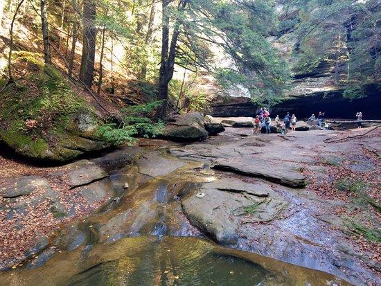 Cedar Falls Hiking Trail : A small river created by the falls