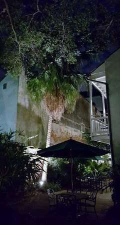 Place d'Armes Hotel : our little courtyard at night