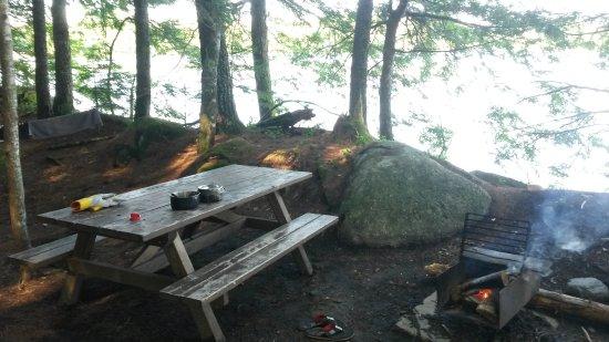 Kejimkujik National Park, Canada: Tisch und Feuerstelle gab es an jeder Camp Site