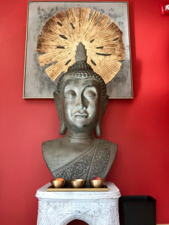 Westford, MA: Ancient Buddha head statue