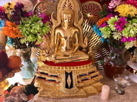 Westford, MA: Our cherished golden Buddha statue