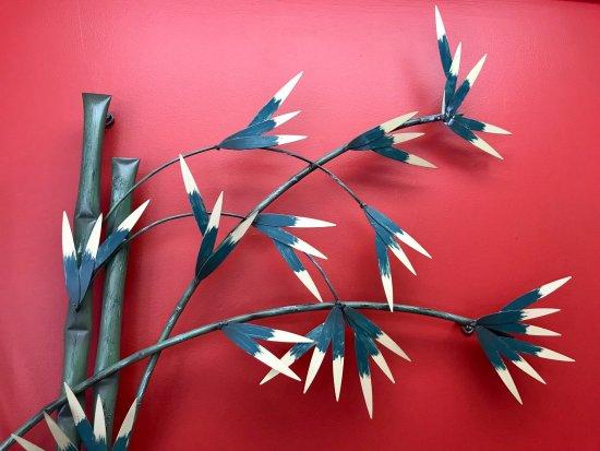 Westford, MA: Contemporary bamboo wall hanging