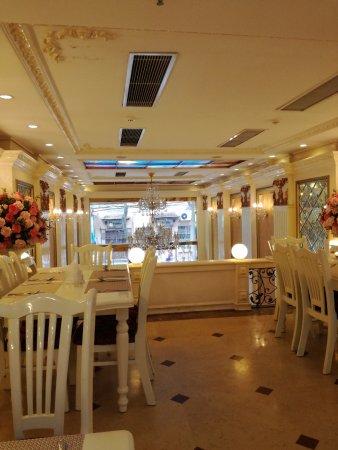 Angel Palace Hotel: Comedor para desayuno.