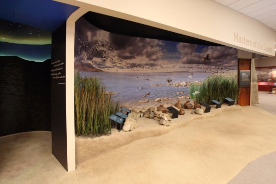 Ocotillo, CA: The Lake Cahuilla diorama takes visitors back in time, when the desert was lush and wet!