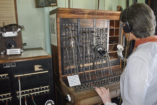 Neillsville, WI: Jail Museum - Telephone Operator display.