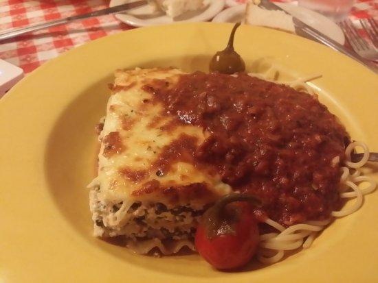 "The Italian Underground Restaurant: ""Small"" spinach lasagna"