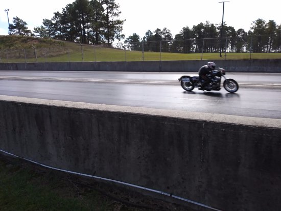 Rockingham Dragway: Finish line