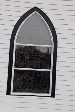Neil's Harbor, Canada : A stained-glass window