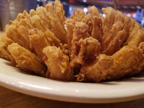 Texas Roadhouse: Blooming onion. Whoops, they call it a cactus blossom.