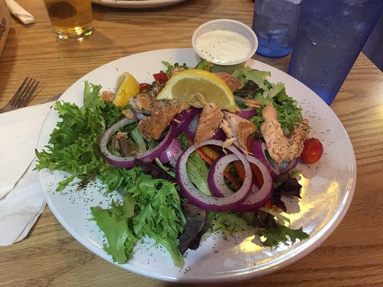 The Rock: Smoked salmon salad